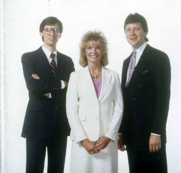 De izquierda a derecha, Steve Lund, Sandie Tillotson, Blake Roney, fundadores de Nu Skin International.