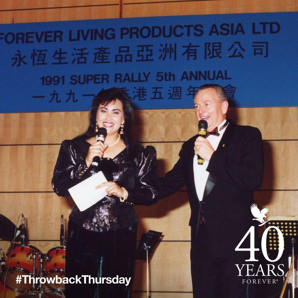 Rex Maughan, fundador de Forever Living, en 1991
