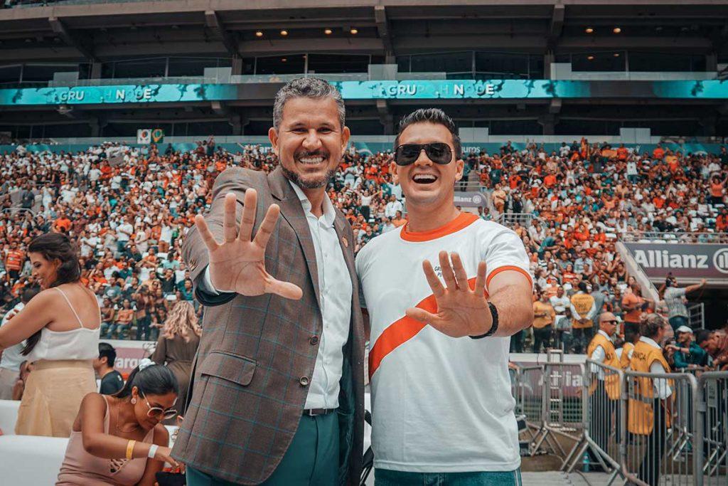 Luis Raúl Ninapaytán y Sandro Rodrigues