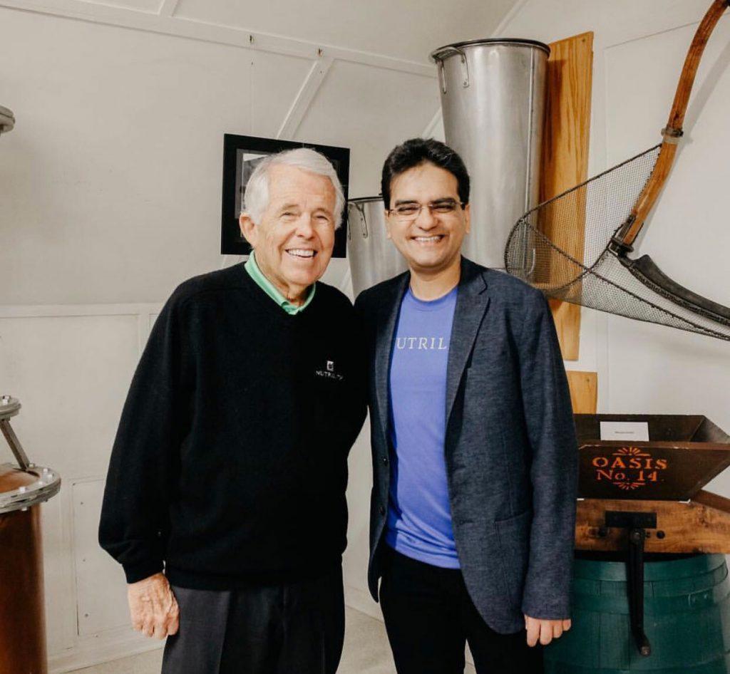Milind Pant con Sam Rehnborg Ph.D.
