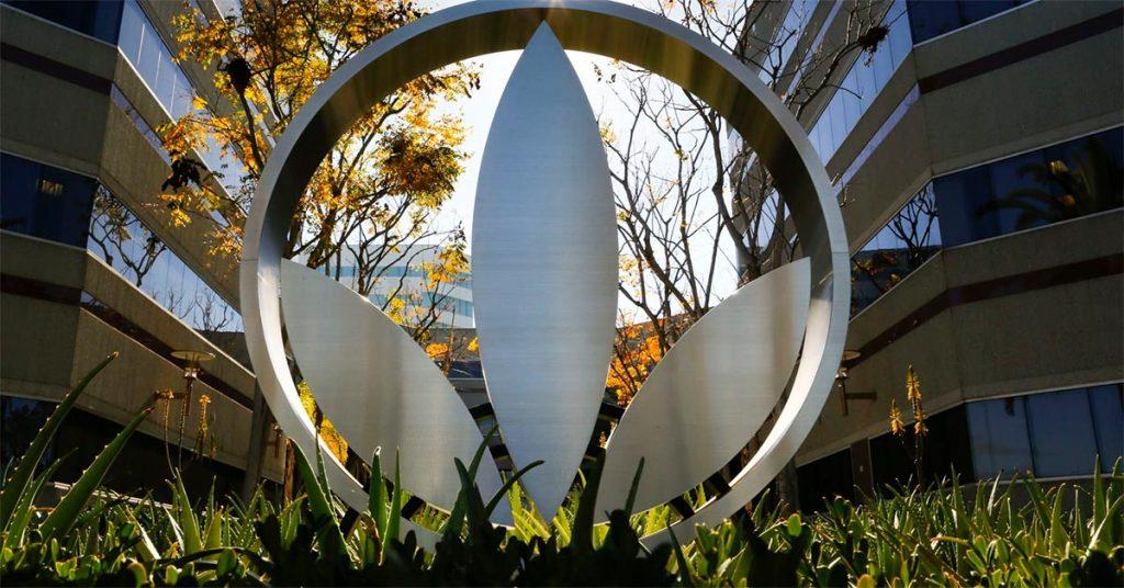 El logo de la compañía representa su orientación hacia los productos naturales - Que es Herbalife