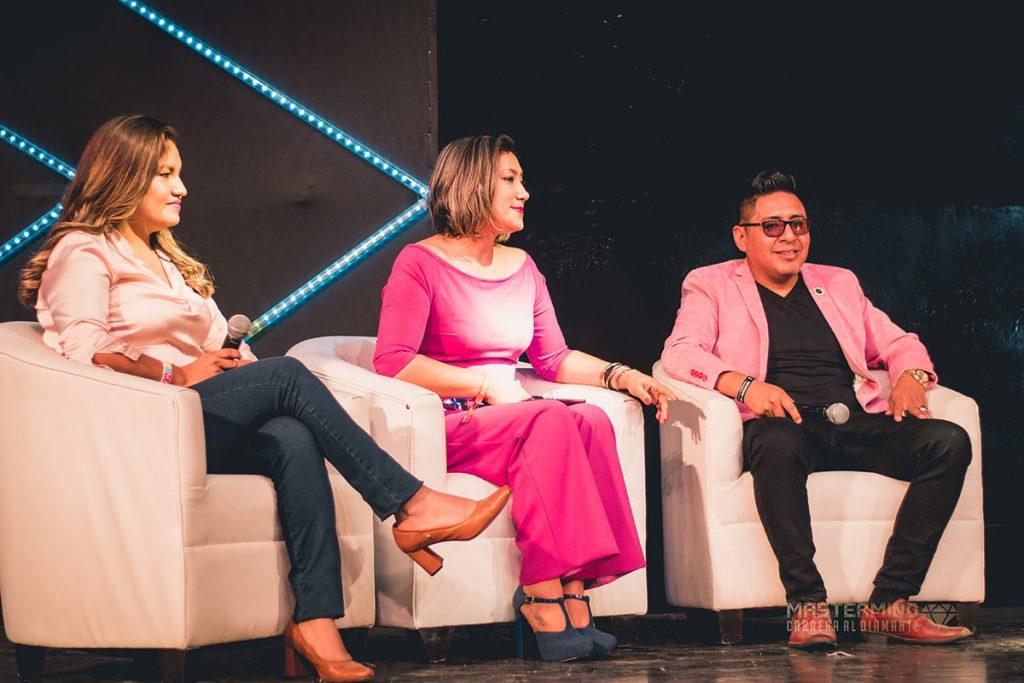 Oscar Gonzales, Katherine León e Karina Rodríguez