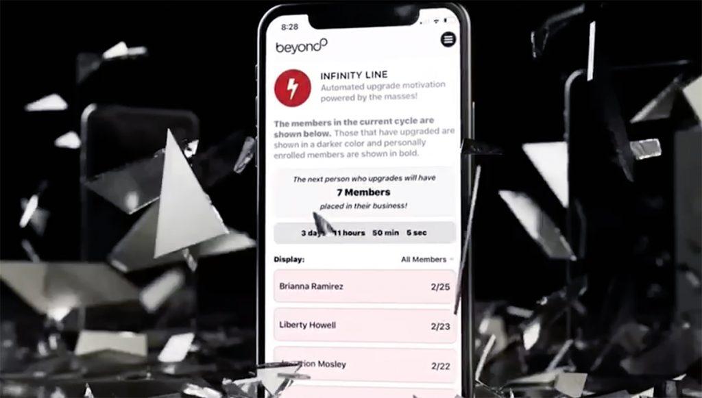 Visual de la app de Beyond