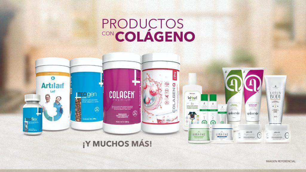 Productos de Teoma con colágeno.